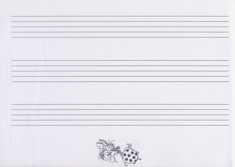 空白五线谱3行 - 小新乐器馆 sc.com.tw | 台湾乐器第