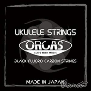 ORCAS OS-MED LG Ukulele 黑瑩石中張力烏克麗麗弦【21吋及23吋皆可用】