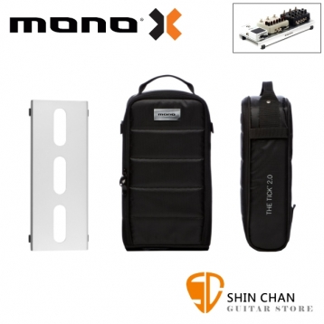 美國 MONO PEDALBOARD LITE 銀色便攜型效果器盤 + TICK 2.0 便攜型效果器袋 軍事化防震防潑水【PFX-PB-LT-SLV】