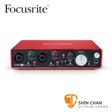 Focusrite Scarlett 2i4 2nd  新版二代 錄音介面 / 錄音卡 USB 2.0(總代理/公司貨)保固一年