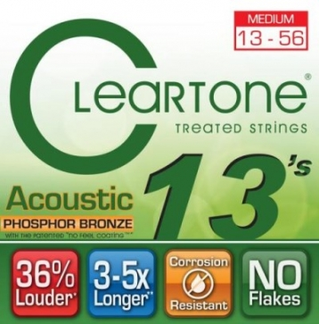CLeaRTone(0.13-0.56)頂級民謠弦(磷青銅)【CleaR Tone吉他弦專賣店/進口弦/7413】
