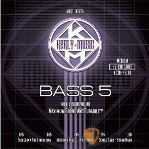 Bass弦►Kerly 冰火弦 KQXB-45130 美製 5弦電貝斯弦  (45-130)