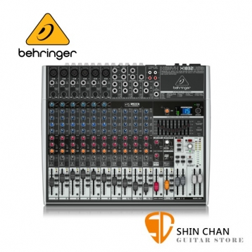 德國Behringer XENYX X1832USB 14軌數位效果混音器 9段EQ等化器【X1832】