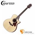Crafter GAE-7 可插電單板民謠吉他 韓國廠 附原廠厚琴袋、Pick×2、移調夾、背帶、導線