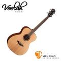 Veelah吉他 V3-OM 非洲黑桃木/OM桶身/面單板-附贈Veelah木吉他袋/V3專用(全配件)台灣公司貨