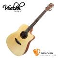 Veelah吉他 V1-DC桶身/面單板/切角-附贈Veelah木吉他袋/V1專用(全配件)/台灣公司貨