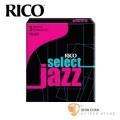 竹片►美國 RICO Select Jazz 高音 薩克斯風竹片  3 MEDIUM  Soprano Sax (10片/盒)