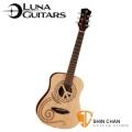 美國品牌Luna Mini小吉他 PEACE和平(雲杉面板/桃花心木側背板)附贈原廠Luna Baby吉他袋 / 旅行吉他 / 兒童吉他
