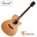 comet吉他 ▻ Comet 吉他 C-480 紅杉木單板 民謠吉他/木吉他(附贈Comet吉他袋/Pick/移調夾/背帶)指板鑲貝
