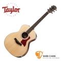 Taylor 214e DLX 單板 可插電民謠吉他 墨廠 附硬盒【214-e DLX/木吉他/GA桶身】