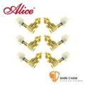 Alice鍍金民謠油壓吉他弦鈕(白色) 45度角 / 附螺絲【木吉他/民謠吉他適用/AP-016V1JP】