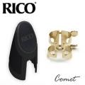 Rico 中音 Alto Sax 金色束圈組 (H型金屬束圈+新款吹嘴蓋)【型號:HAS1G】