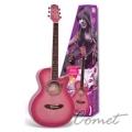 SX 黑/粉紅/紫色 GRA1K 38吋 民謠吉他套餐組 SX木吉他專賣店
