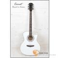 Comet吉他►Comet C-380 完美純白-手工鑲珍珠民謠吉他【Comet木吉他專賣店/吉他品牌/C380】