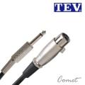 TEV 04M-6.3 麥克風線(10公尺/XLR to TS 6.3)