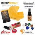 美國三加二超值399保養組(GHS弦油+Dunlop清潔保養蠟+Music Nomad頂級纖琴布+Pick五片+Pick盒)吉他保養/樂器保養