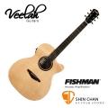 Veelah吉他 V1-OMCE om桶身/面單板/切角/電木吉他 Fishman拾音器-附贈Veelah木吉他袋/V1專用(全配件)/台灣公司貨