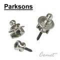 Parksons 韓製-吉他專用安全背帶釘(銀色)