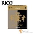 竹片►美國 RICO Grand Concert Select 豎笛/黑管 竹片 Evolution 4號 Bb Clarinet (10片/盒)【灰黑包裝】
