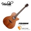 Veelah吉他 V1-OMMCE 電木吉他/全桃花心木/OM桶身/可切角/面單板/Fishman拾音器-附贈Veelah木吉他袋/V1專用(全配件)台灣公司貨