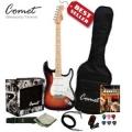 Comet 超值ST1電吉他+10瓦音箱+吉他教材+調音器+全配備套餐【Comet吉他專賣店/ST-1】