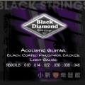 美國頂級 Black Diamond 黑鑽石民謠(全黑細弦)(0.10~0.46)【Black Diamond進口弦專賣店/木吉他弦】