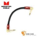 短導線 ▷ Monster Acoustic M ACST2-0.75DA  電木吉他 效果器專用短導線 22公分