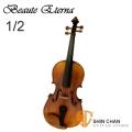 小提琴▻ BEAUTE ETERNA 雲杉木單板 小提琴 FL12 1/2 Violin 棗木配件 手工刷漆 附琴弓、松香、肩墊、琴盒