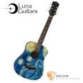 Baby吉他 ► 美國品牌Luna Mini 36吋小吉他 SAFARI STARRY(雲杉木面板)附贈原廠Luna Baby吉他袋 / 旅行吉他 / 兒童吉他