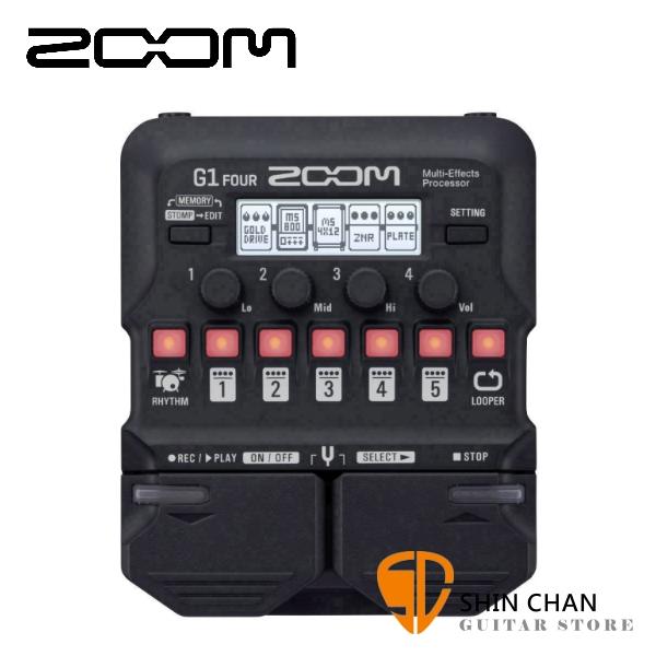 ZOOM G1 FOUR 電吉他專用綜合效果器 原廠公司貨 一年保固【Guitar Effects Pedal】