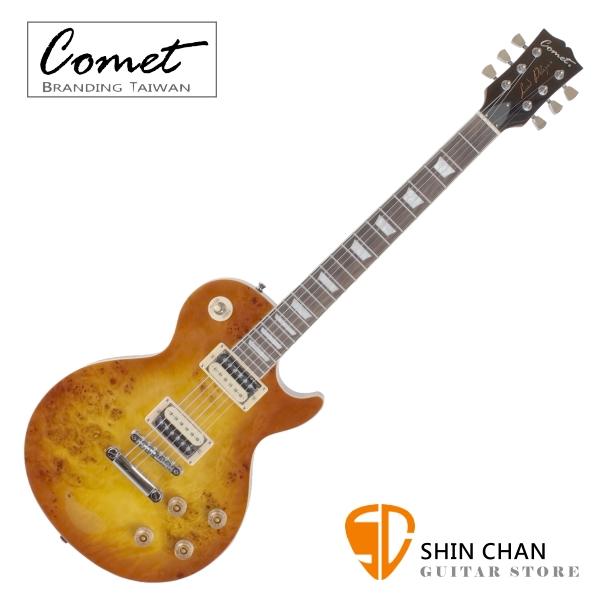 Comet Les Paul BURL-MB 頂級鳥眼楓木電吉他 夕陽漸層(雙雙)拾音器 附Comet吉他袋、背帶、琴布、導線、Pick【音色與手感兼具】