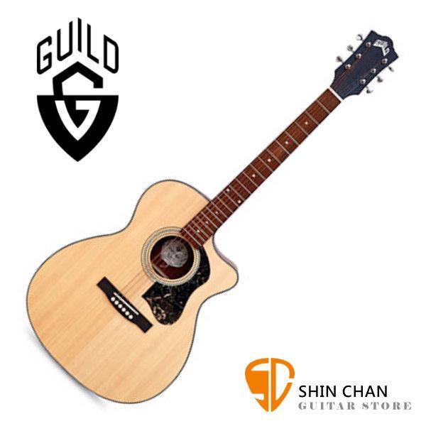 Guild 美國吉他品牌 Guild OM-340C 雲杉面單板 / 桃花心木側背板 切角 附 Guild 原廠吉他厚袋 台灣公司貨 OM340C