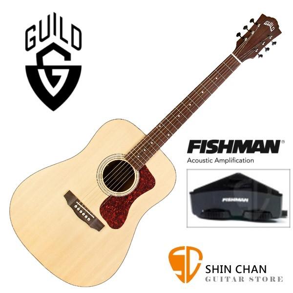 Guild吉他> 美國經典品牌 Guild D-240E 可插電面單板吉他(標準D桶身)Fishman拾音器/附Guild原廠吉他袋/軟Case 總代理公司貨