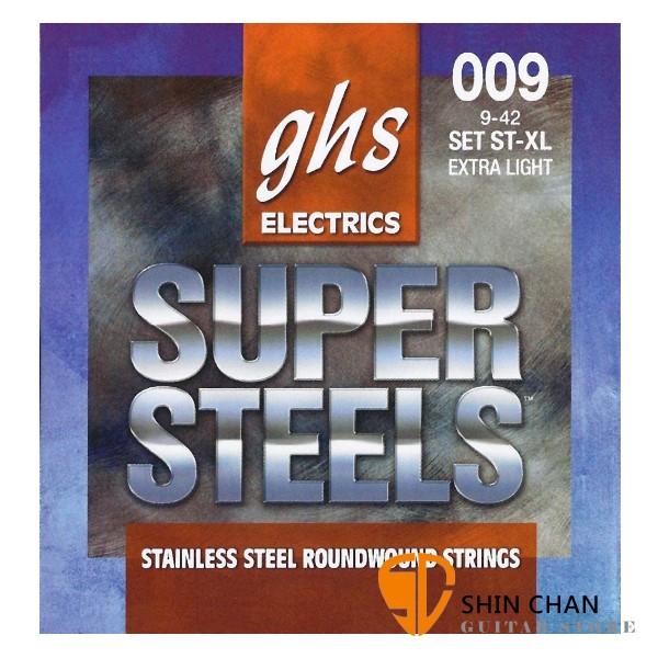 GHS Super Steels Set ST-XL 電吉他弦 (09-42)【美國製/電吉他弦/Set-ST-XL】