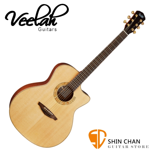 Veelah 吉他 V7-SAS-GAC 全單板 民謠吉他-附贈Veelah木吉他硬盒 GA桶身 台灣公司貨 Veelah V7 木吉他