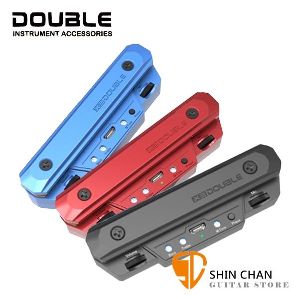 Double X0 民謠吉他拾音器 RX線圈與麥克風雙拾音【音孔安裝/超長續航/USB充電】