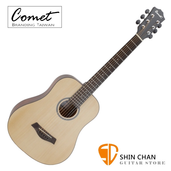 Comet CT1 36吋 雲杉木 民謠吉他/旅行吉他/Baby吉他 附贈Pick x2、移調夾、背帶、吉他袋【進階首選/木吉他/完美音色】