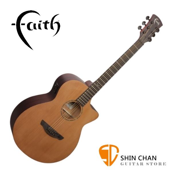 Faith 英國名牌 FKVCD 41吋 可插電 全單板 民謠吉他 附贈吉他硬盒 CASE 印尼製【電木吉他】
