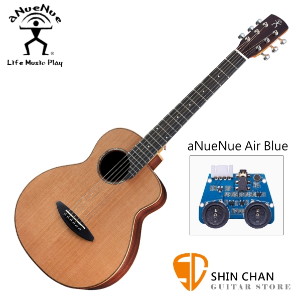 aNueNue M60E 36吋小吉他 可插電民謠吉他 單板紅松木+玫瑰木側背板 附贈anuenue原廠吉他袋【旅行吉他】