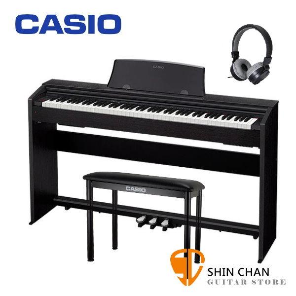 Casio PX-770 滑蓋式 電鋼琴 88鍵 黑色 / 含原廠腳架 / 三音踏板 / 琴椅 台灣卡西歐公司貨 贈送耳機 PX770