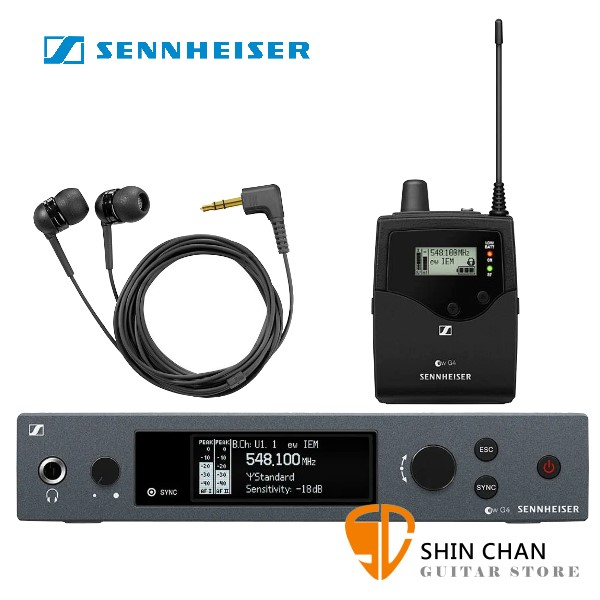 德國森海塞爾 SENNHEISER EW IEM G4-B 無線監聽系統 ( SR IEM發射器 + EK IEM 接受器 + IE4耳機 )【EWIEMG4B/原廠公司貨保固】
