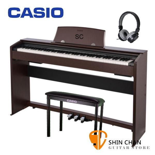 Casio PX-770 滑蓋式 電鋼琴 88鍵 咖啡色 / 含原廠腳架 / 三音踏板 / 琴椅 台灣卡西歐公司貨 贈送耳機 PX770