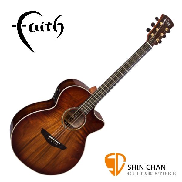 Faith 英國名牌 FVBMB 41吋 全單板 可插電 民謠吉他 附贈吉他硬盒 CASE 印尼製【電木吉他】