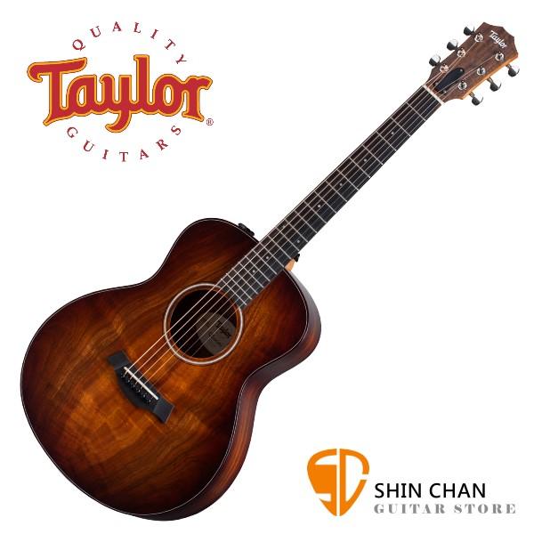 Taylor GS Mini-E Koa Plus 相思木面板 可插電民謠吉他【墨西哥廠/附原廠琴袋/面單板/電木吉他】