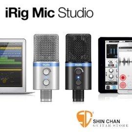 iRig Mic Studio 專業大振膜電容麥克風(大震膜)黑色 原廠公司貨 適iPhone/iPad/AndriodMac/PC 行動錄音