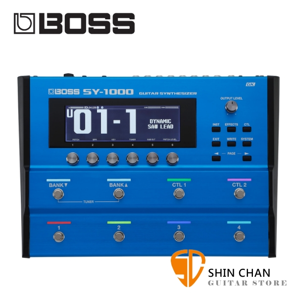 Boss SY-1000 吉他/貝斯 專用合成器 Roland Guitar Synthesizer【SY1000】
