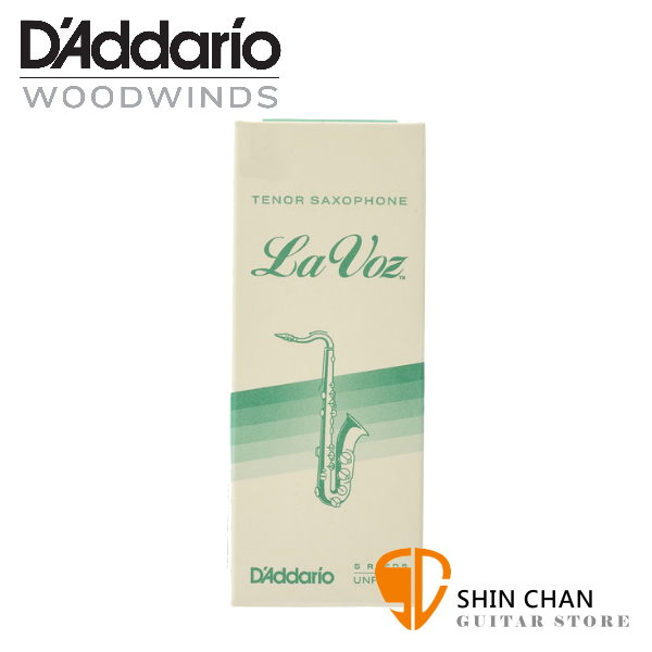 美國 Daddario La Voz 次中音 薩克斯風竹片 Medium Hard (3號) Tenor Sax (5片/盒)【RICO】