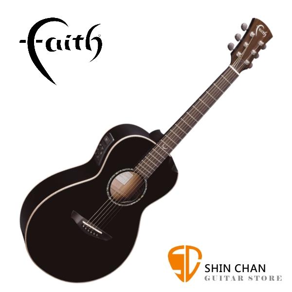 Faith 英國名牌 FECM-BNC 41吋 全單板 可插電 民謠吉他 附贈吉他硬盒 CASE 印尼製【電木吉他】