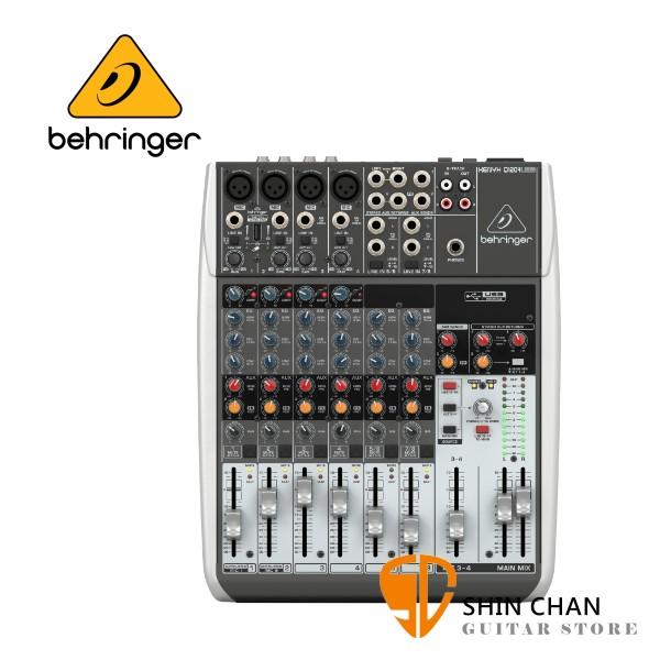 Behringer 耳朵牌 XENYX Q1204USB 12軌混音器【USB介面/原廠公司貨保固】