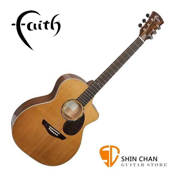 Faith 英國名牌 FG1HC-NPX 41吋 全單板 民謠吉他 附贈吉他硬盒 CASE 印尼製【木吉他】